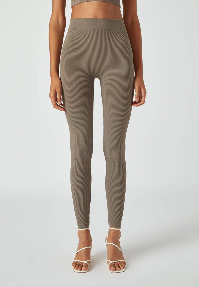 PULL&BEAR - Leggings - Trousers - grey