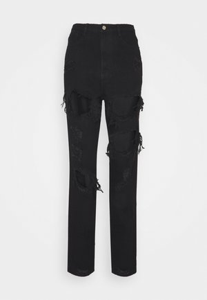 RIOT HIGH RISE RIPPED  - Jeans baggy - black