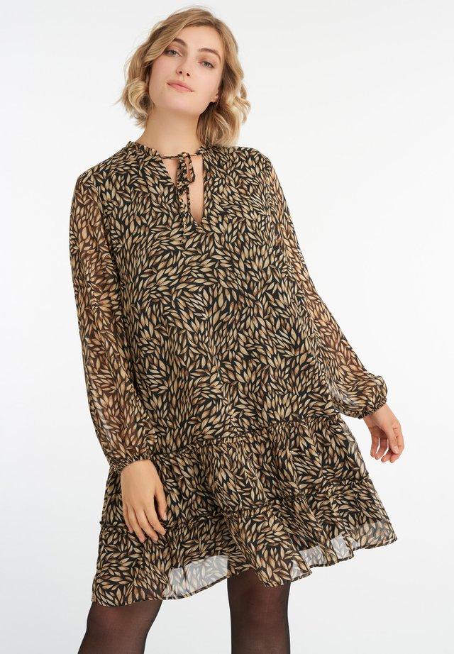 MET PRINT - Korte jurk - multi neutrals