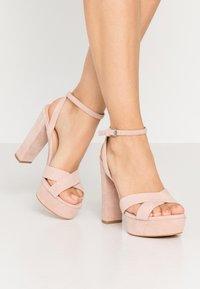 Even&Odd Wide Fit - LEATHER - Sandaler med høye hæler - nude - 0
