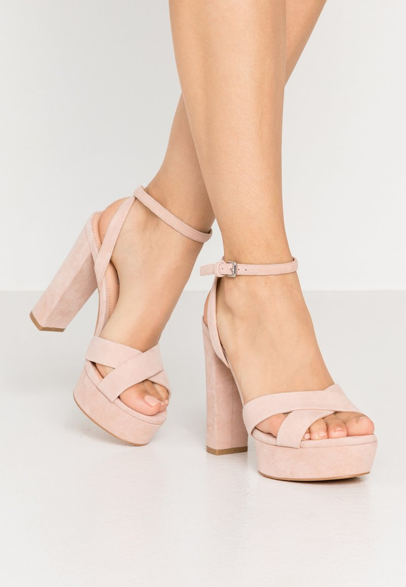 Even&Odd Wide Fit - LEATHER - High Heel Sandalette - nude