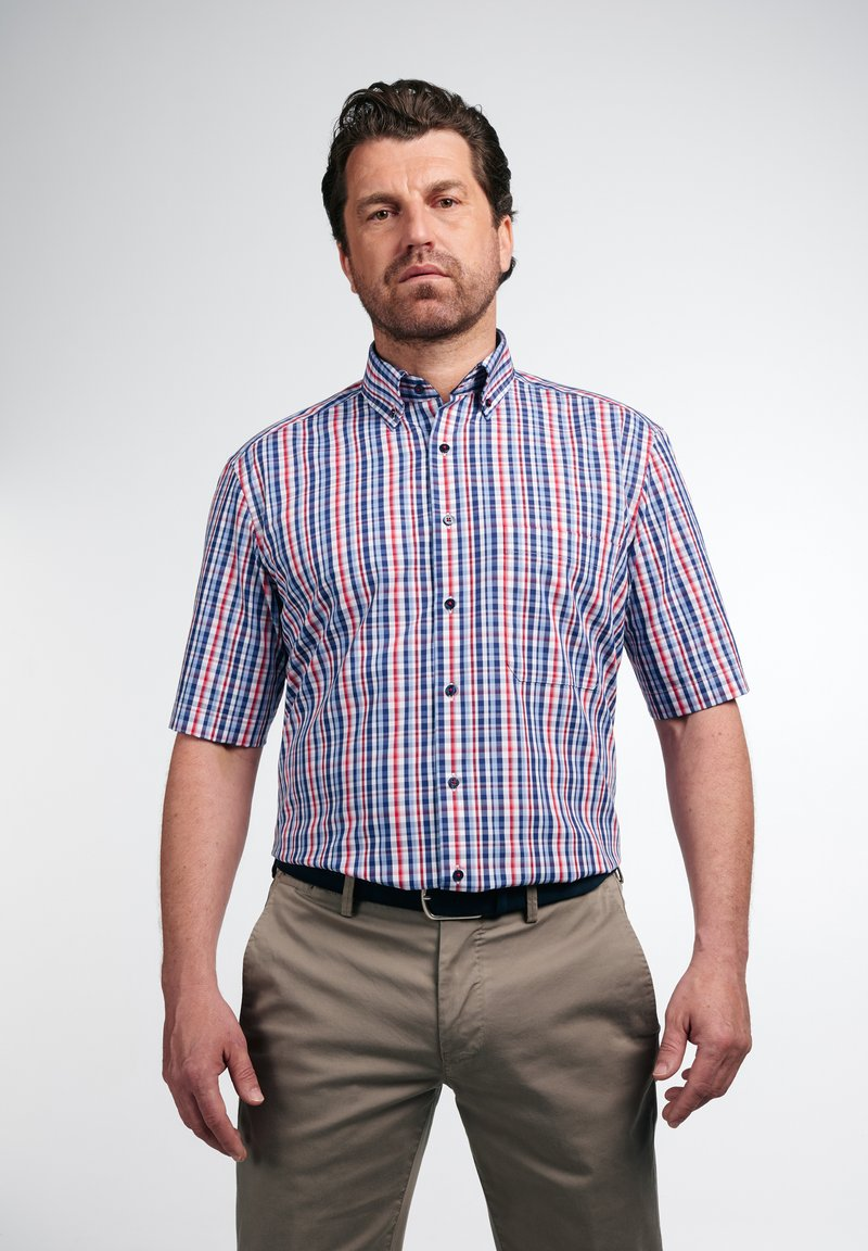 Eterna - COMFORT FIT - Shirt - rot/blau