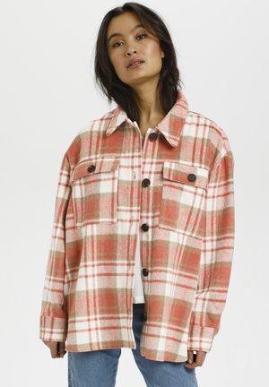 Summer jacket - pink check