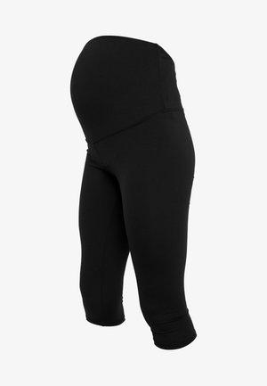 CORE CAPRI OVER BELLY TIGHT - Pantalón 3/4 de deporte - black