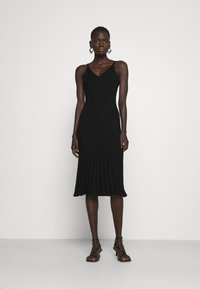Milly - CAMI TOP PLEATED MIDI DRESS - Cocktail dress / Party dress - black - 0