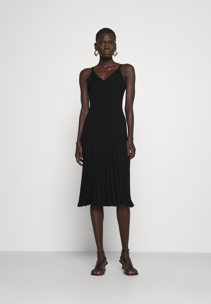 Milly - CAMI TOP PLEATED MIDI DRESS - Cocktail dress / Party dress - black
