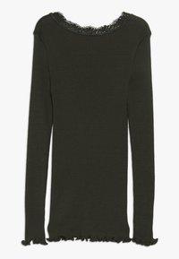 Rosemunde - SILK-MIX T-SHIRT REGULAR LS W/LACE - Langærmede T-shirts - dark green - 1