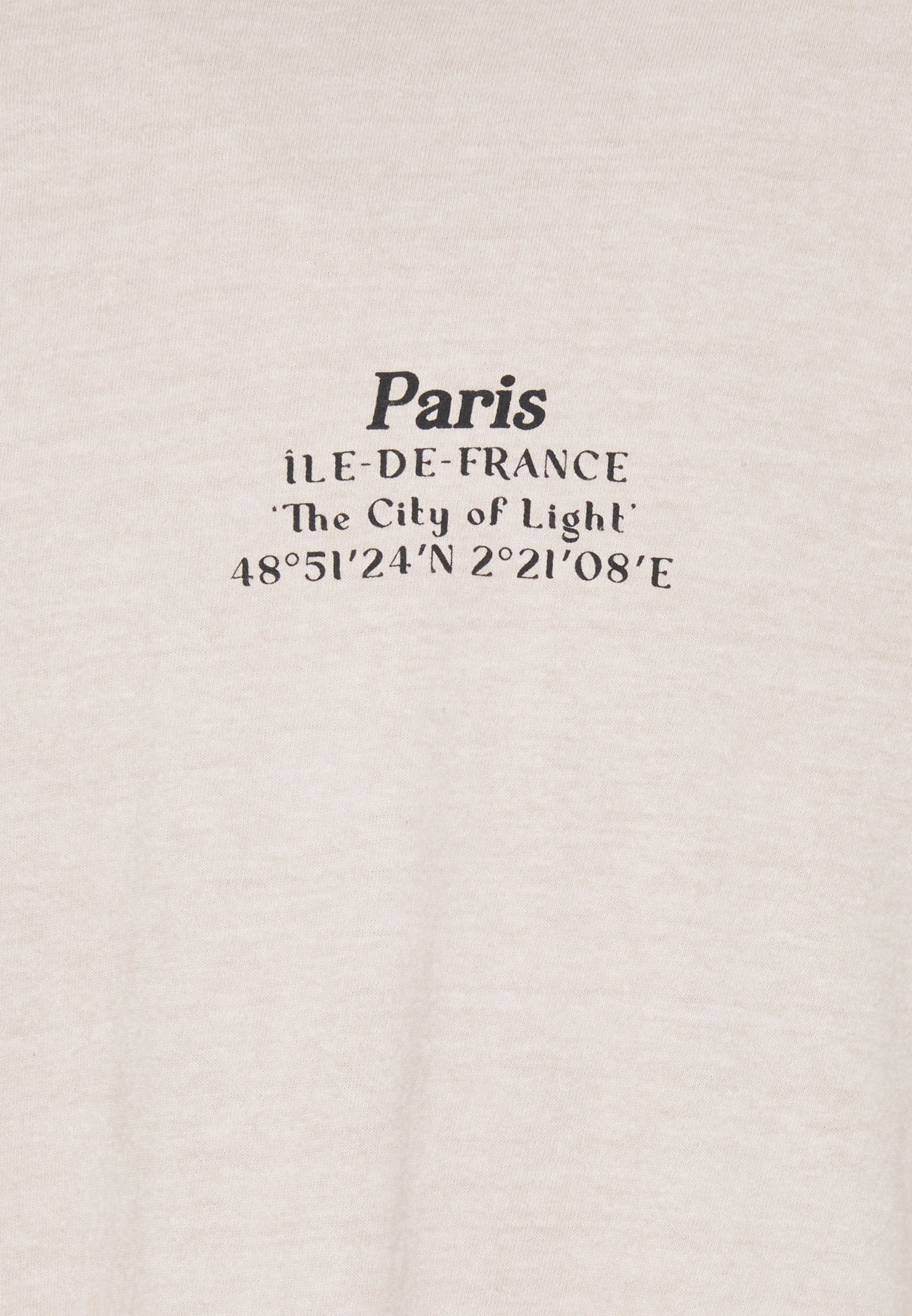 Topman Paris Heritage Tee - T-shirts Med Print Stone/stein