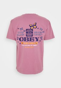 Obey Clothing - TO THE CHILDREN - T-shirt con stampa - cassis - 1