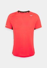 Mizuno - DRYAEROFLOW TEE - T-shirt print - ignition red - 0