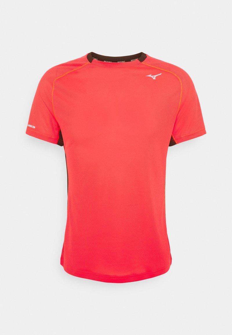 Mizuno - DRYAEROFLOW TEE - T-shirt print - ignition red
