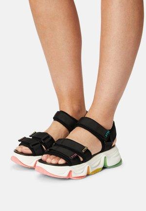 CHAKRA - Sandals - black/multi