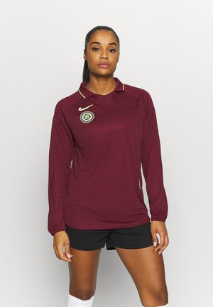 Long sleeved top - dark beetroot/silver