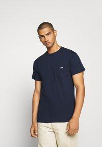 Obey Clothing - JUMBLED BASIC POCKET TEE - T-shirt basic - navy - 0