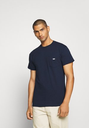 JUMBLED BASIC POCKET TEE - T-shirt - bas - navy