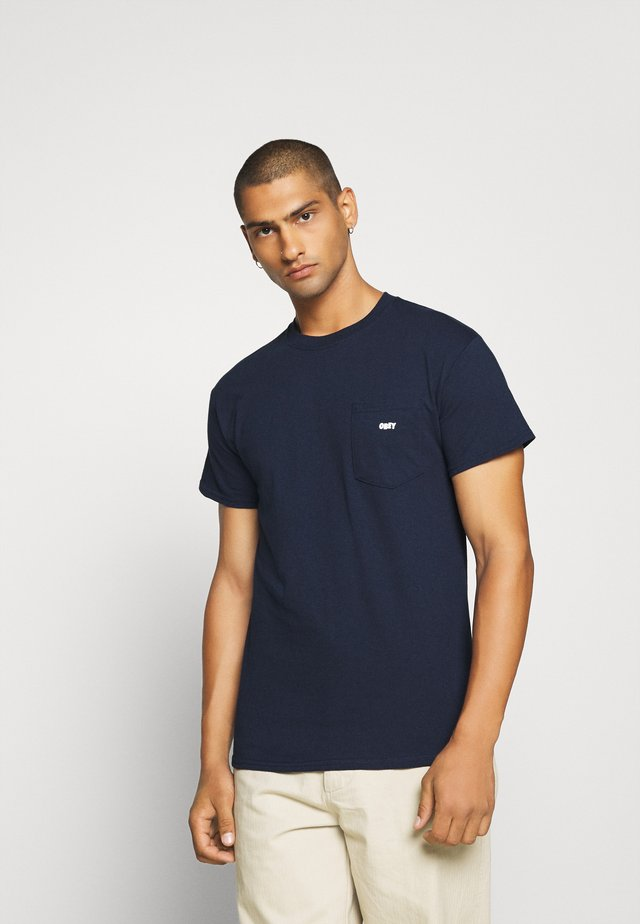 JUMBLED BASIC POCKET TEE - T-shirt basic - navy