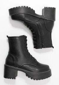 Koi Footwear - VEGAN DL3 - Platform ankle boots - black - 3