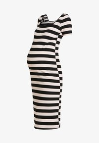 Glamorous Bloom - TUBE DRESS WITH SQUARE NECK - Robe en jersey - black /nude - 3