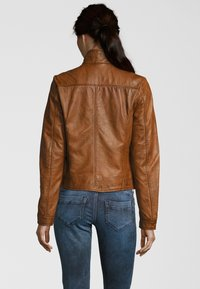7eleven - Leather jacket - cognac - 2