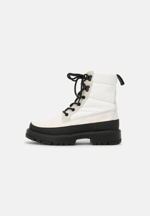 SOLVI  - Lace-up ankle boots - regular white