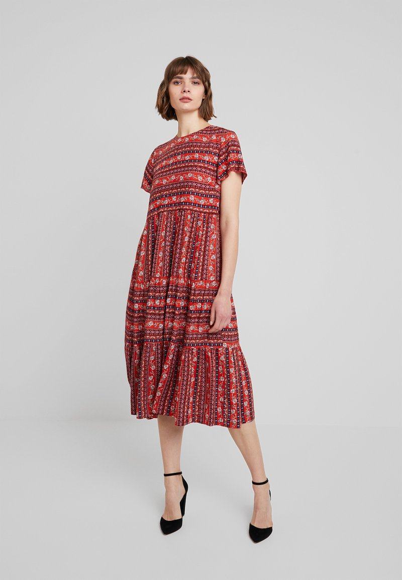Louche - THEODEN FOLKSTRIPE - Day dress - red