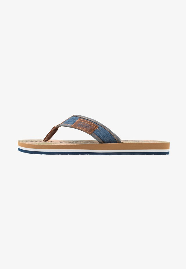 T-bar sandals - blue denim