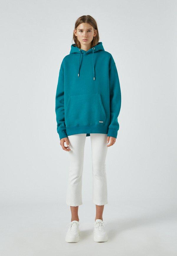 PULL&BEAR Bluza z kapturem - green/zielony Odzież Męska LUQP