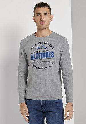 MIT PRINT - Long sleeved top - middle grey melange