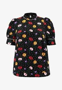 Fashion Union Plus - FASHION UNION HIGH NECK BLOUSE - Blůza - garden floralblack - 4