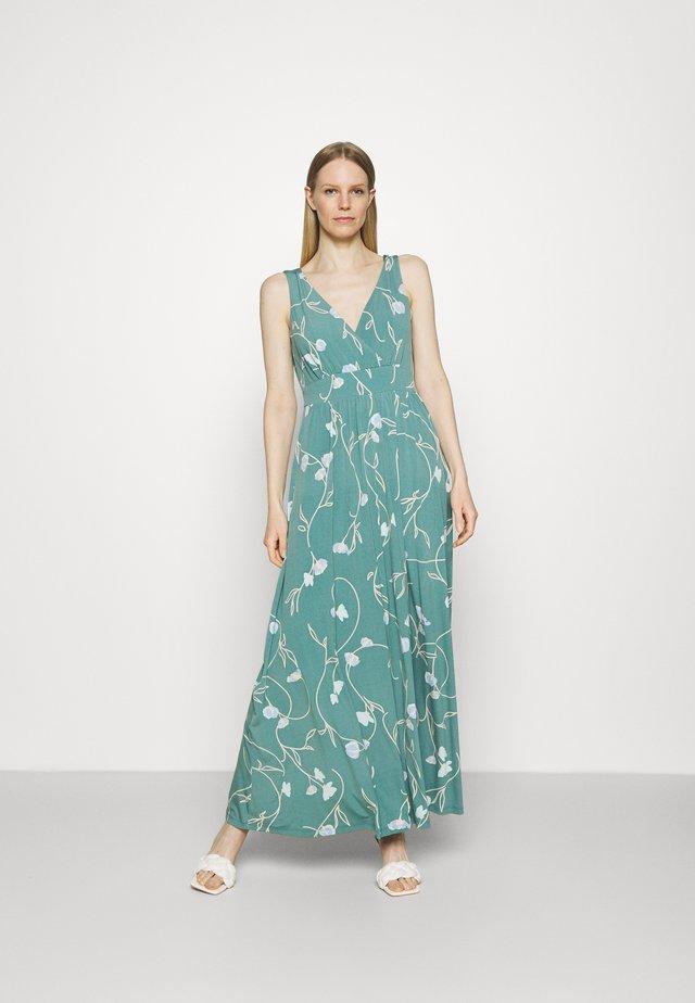 Długa sukienka - dark turquoise