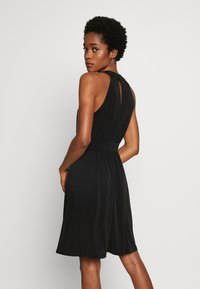 Vila - VIROSA PEARL KEYWHOLE DRESS - Vestido de cóctel - black - 2
