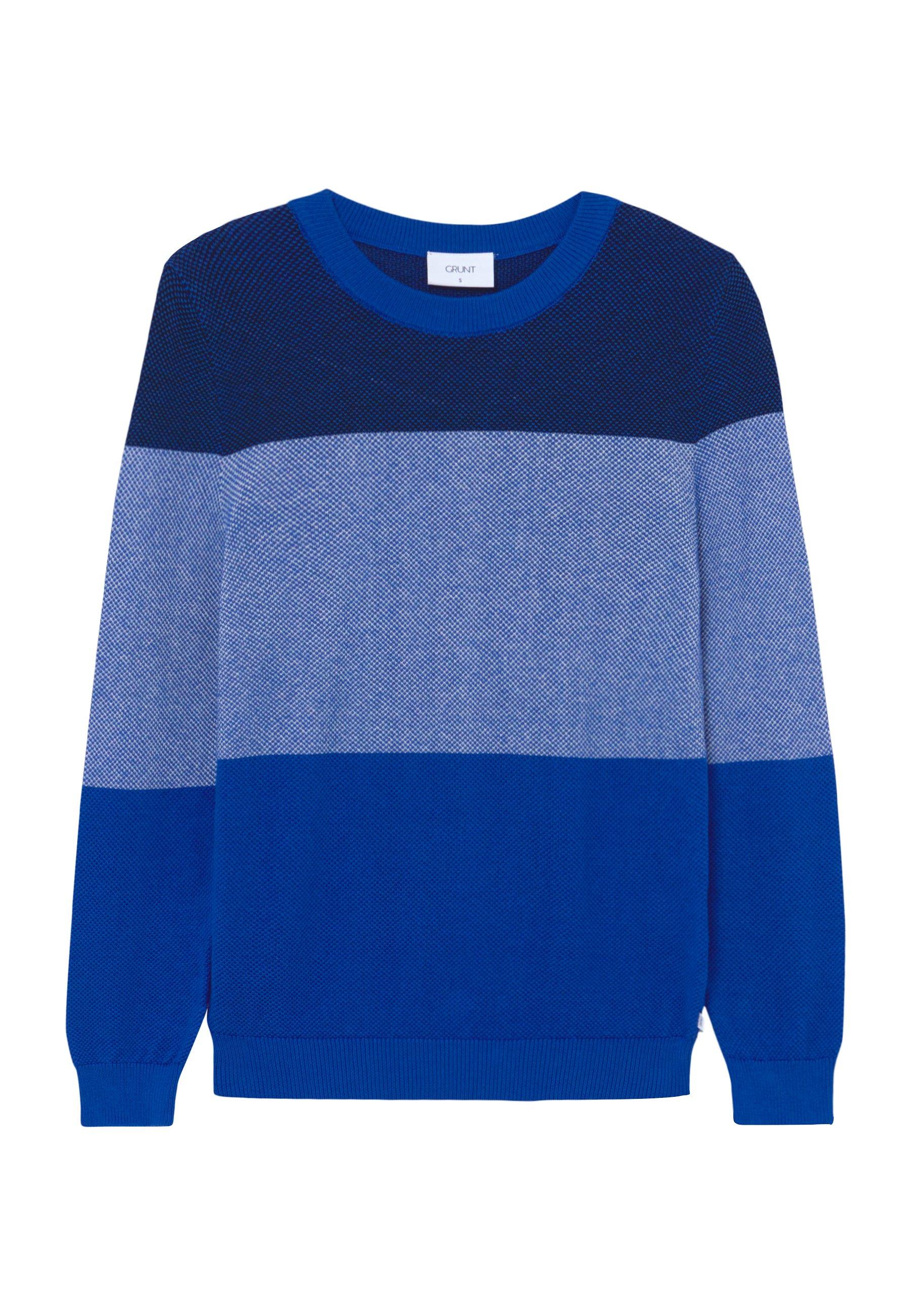 Große Förderung Grunt Strickpullover - web blue | Damenbekleidung 2020