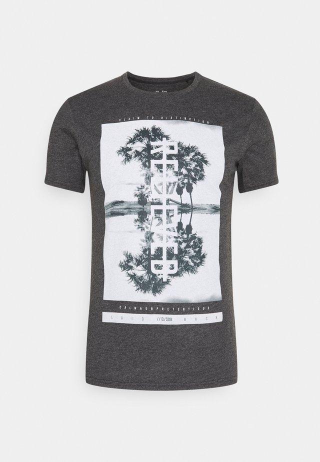 KURZARM - T-shirt imprimé - black