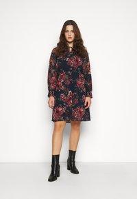 Vero Moda Curve - VMNEWSUNILLA SMOCK DRESS  - Day dress - navy blazer/newsunilla - 0