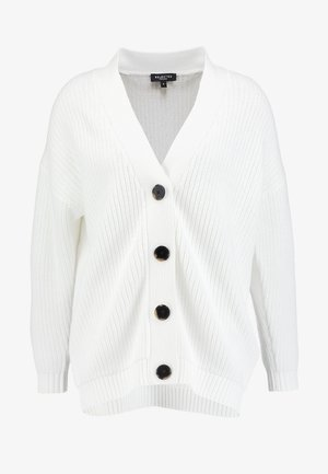 SLFBAILEY BUTTON CARDIGAN - Gilet - snow white