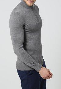 J.LINDEBERG - KIAN TOUR - Stickad tröja - grey melange - 2