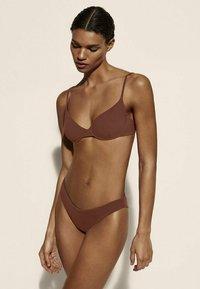 Massimo Dutti - Bikini top - brown - 0