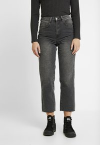 Cotton On - HIGH - Jeans Straight Leg - super wash black - 0