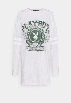 PLAYBOY VARSITY BUNNY TSHIRT DRESS - Long sleeved top - grey marl