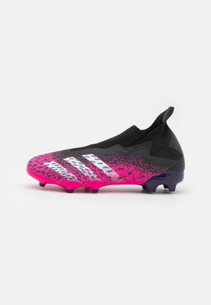 PREDATOR FREAK .3 FG - Moulded stud football boots - core black/footwear white/shock pink