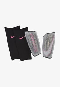 Nike Performance - MERC SUPERLOCK SET - Shin pads - black/white/pink blast - 0