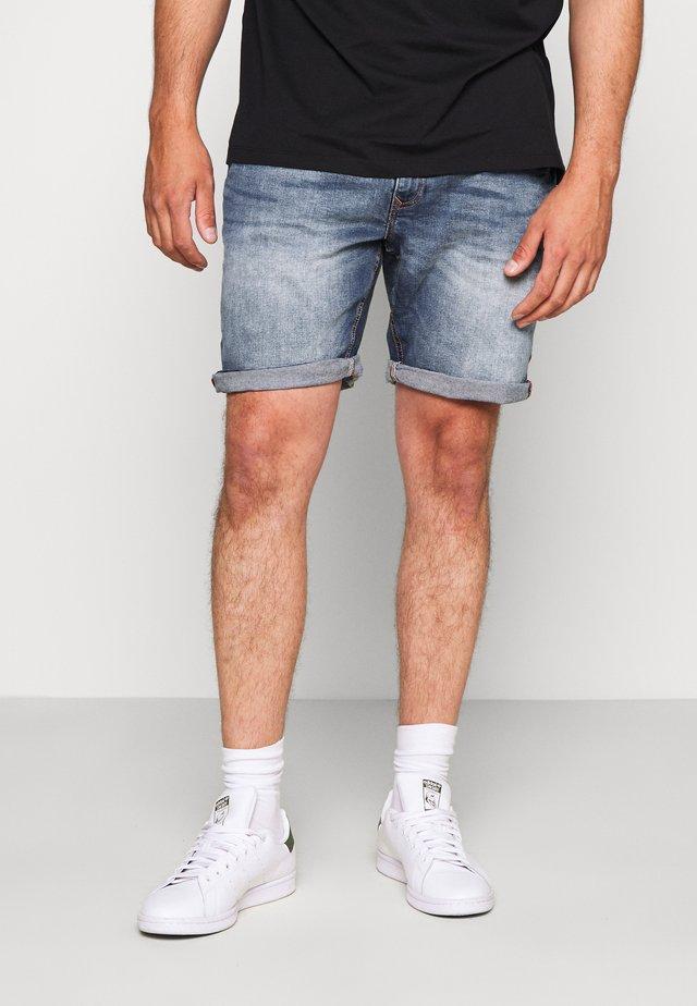 Denim shorts - denim middle blue
