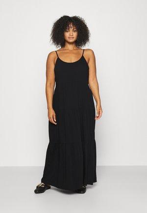 CAMI STRAP TIERED DRESS - Maxi dress - black