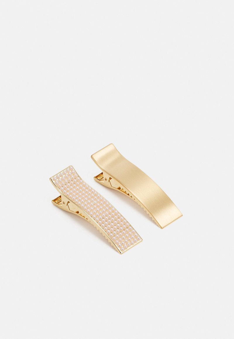 Lindex - HAIRCLIP CLEAN DECORATED 2 PACK - Håraccessoar - gold-coloured
