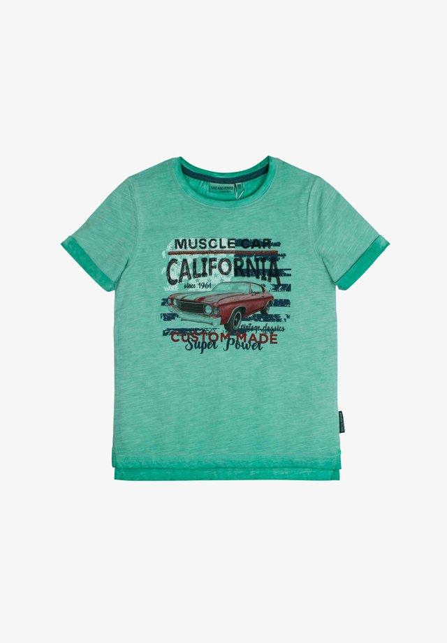 Print T-shirt - pepper green
