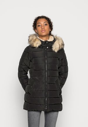 ONLCAMILLA QUILTED COAT - Płaszcz zimowy - black/nature