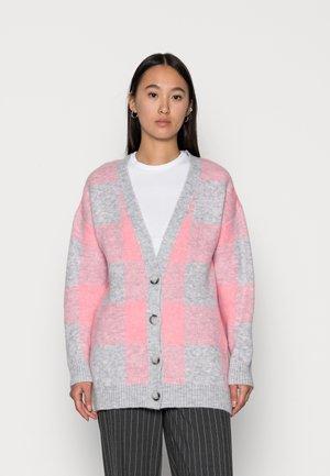 VIWOW CARDIGAN - Cardigan - pink/grey