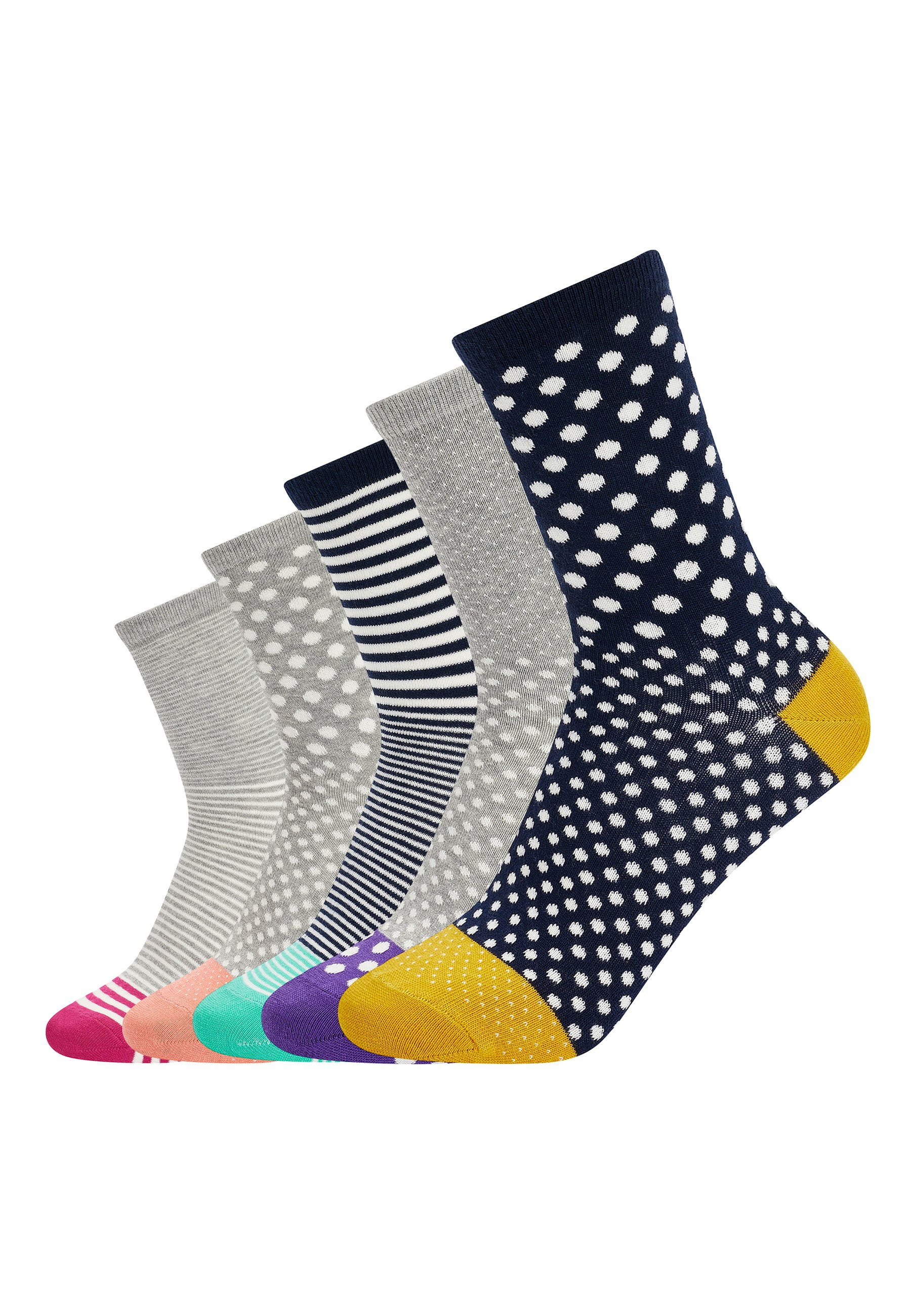 Mujer SPOT AND STRIPE ANKLE SOCKS 5 PACK - Calcetines
