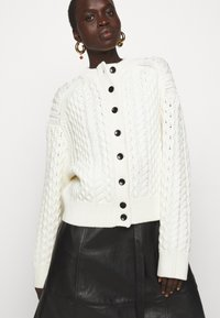 Proenza Schouler White Label - CABLE BUTTON BACK - Cardigan - ivory - 5