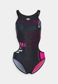Arena - ONE DEBUG ONE PIECE - Swimsuit - black/multi - 4
